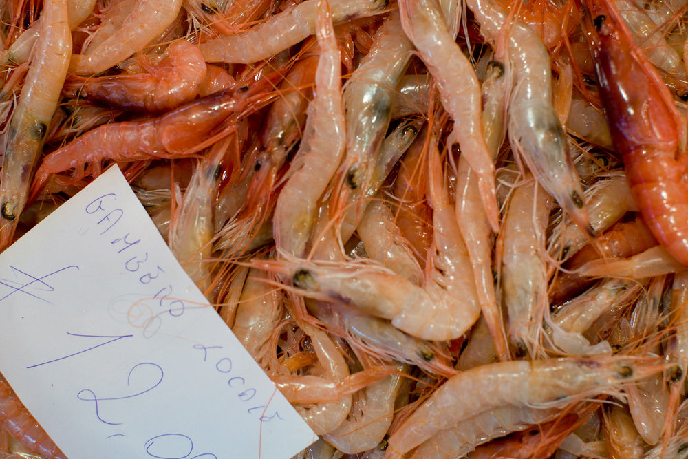 Local shrimp.