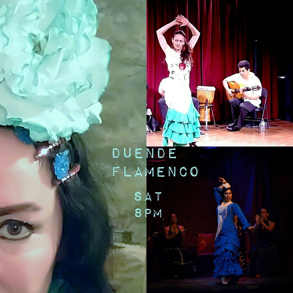 Saturday nights are for Flamenco Fun with Duende Flamenco at our Dinner Shows.   Duende brings you the art and the passion of Flamenco at 8pm. Reservations can be made online at Taoasflavorsofspain.net