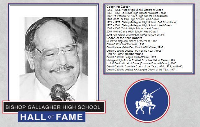 George Sahadi 2016 Lancer forever hall of fame inductee