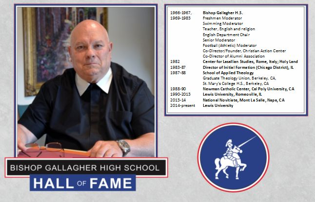 brother philip johnson, f.s.c. 2016 Lancer forever hall of fame inductee