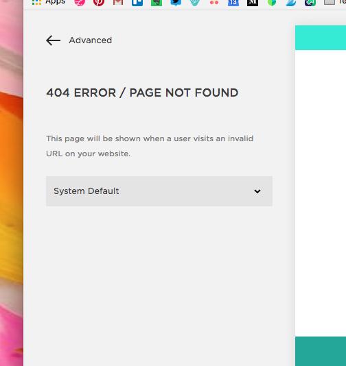 404 error page best practices Squarespace