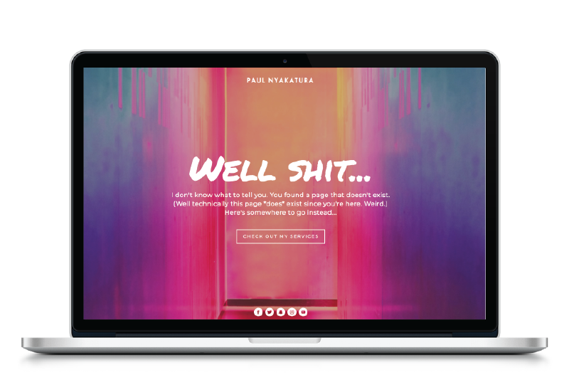 This 404 page will stop them in their tracks, in a good way ;)