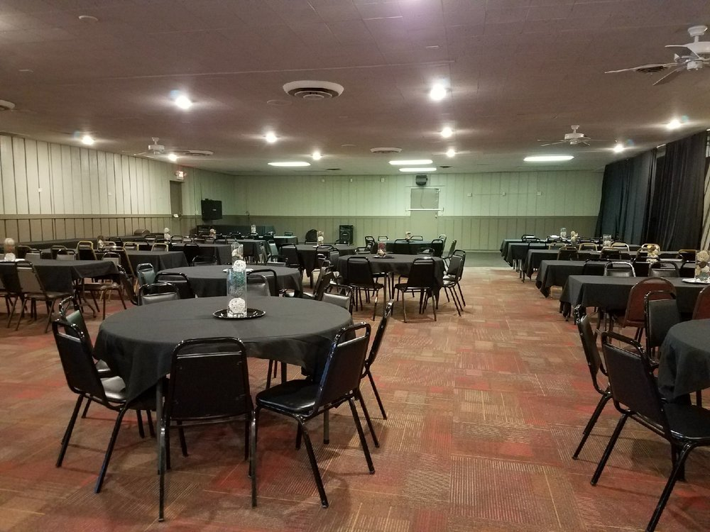 SOUTH HALL - Our South Hall is just what you need for a birthday party, corporate meeting, or a family reunion! We have generous tablespace and beautiful decor to suit your guests needs! Amenities include:• Private bar• PA System & Fog Machine• Stage• Food from our restaurant and event menu!