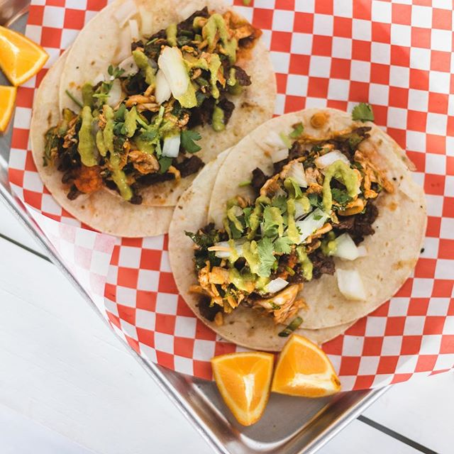 Hey big heads! 🐶💕 We will be serving our spicy tacos at @axelradhouston today from 5-11pm (or till sold out)!!