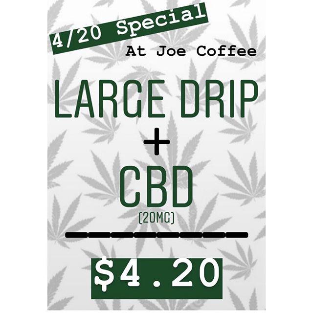 It's 4/20 🌿 come celebrate with us! #420 #cbd #coffee