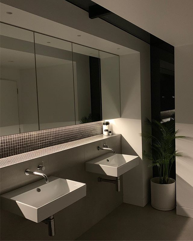 Recently completed ensuite, by night 🌚