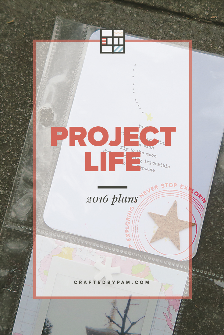 Project Life 2016: Plans | Crafted by Pam