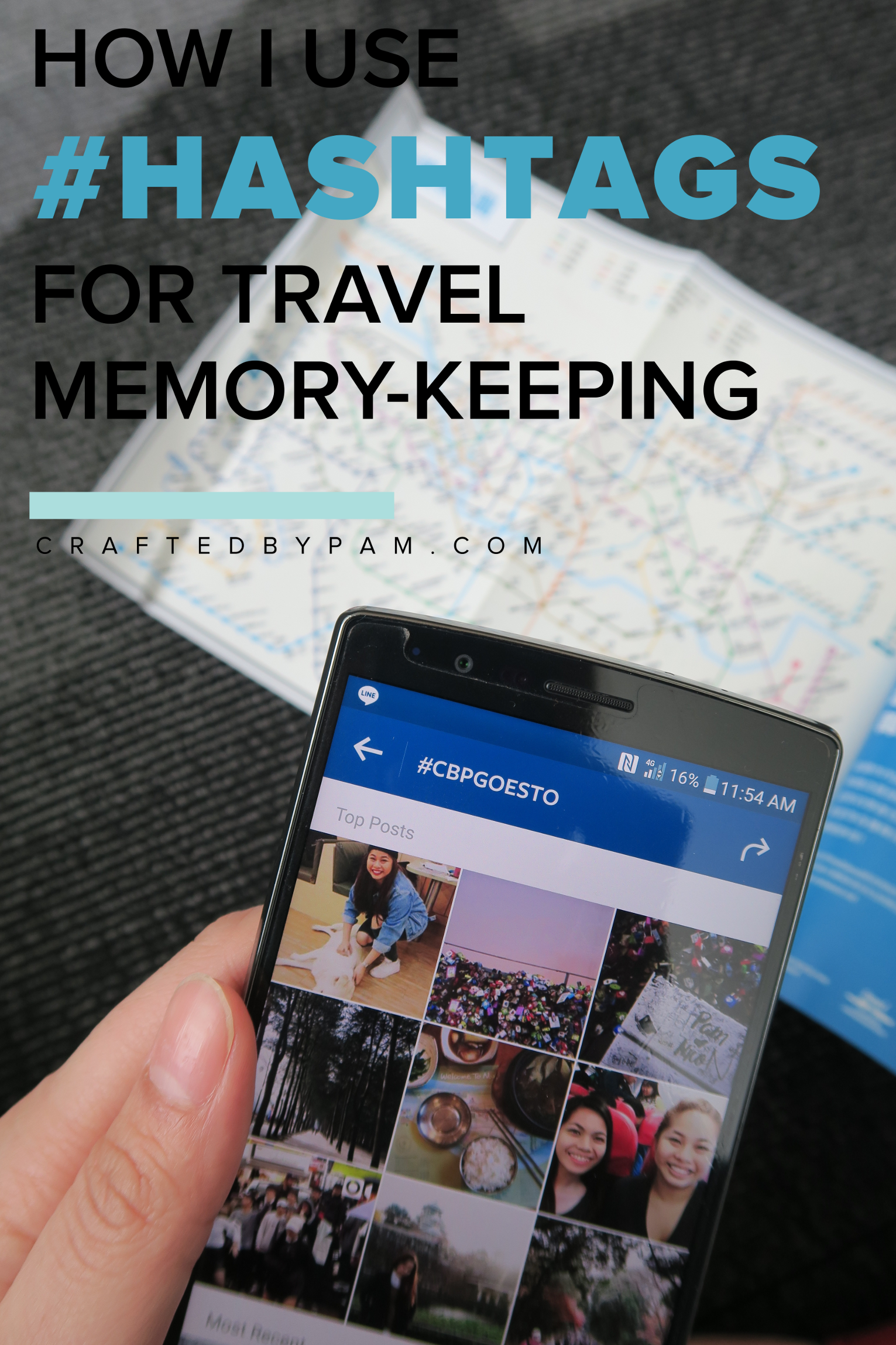 How I Use Hashtags in Travel Memory-keeping | Crafted by Pam