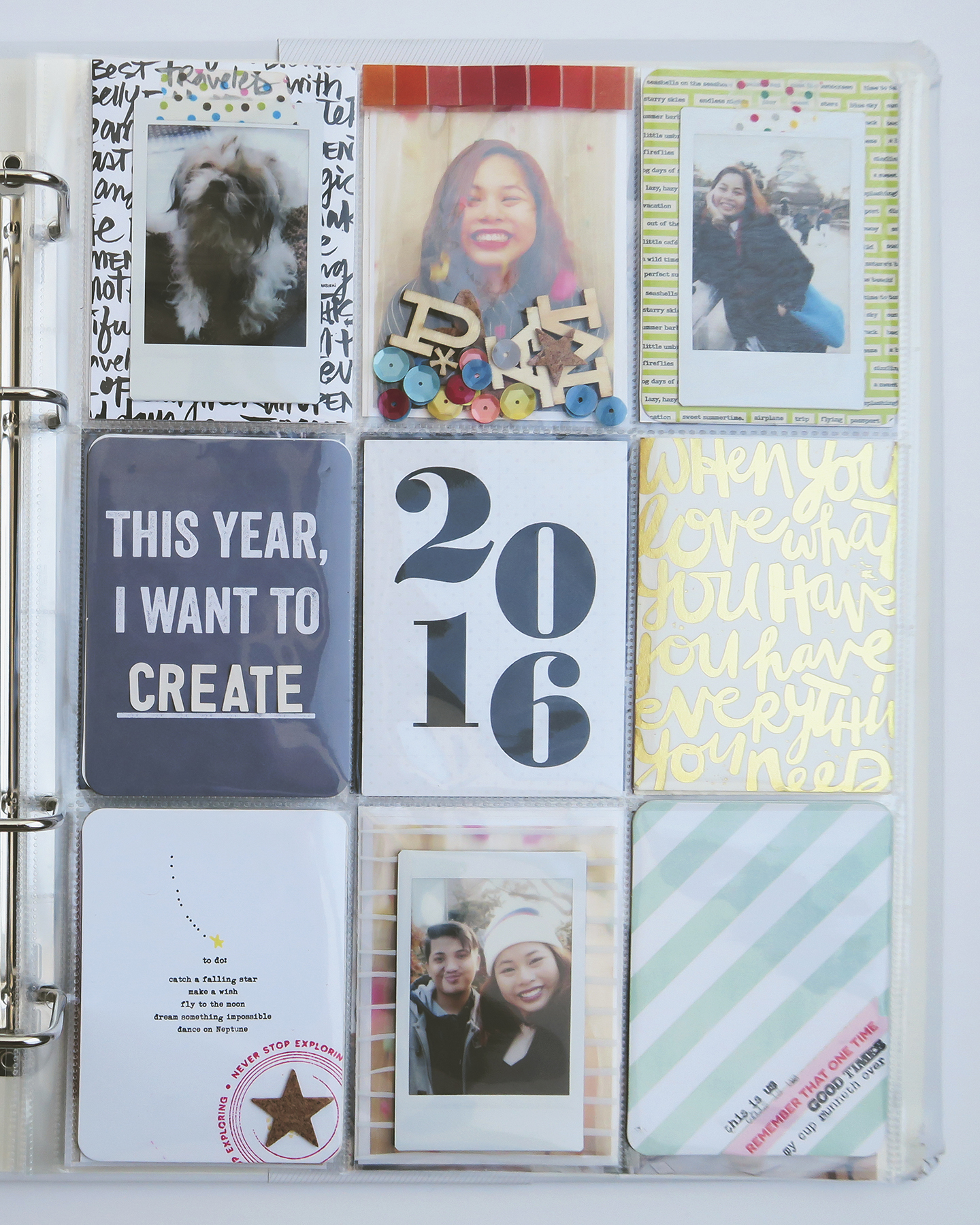 Project Life 2016: Cover Page | Crafted by Pam