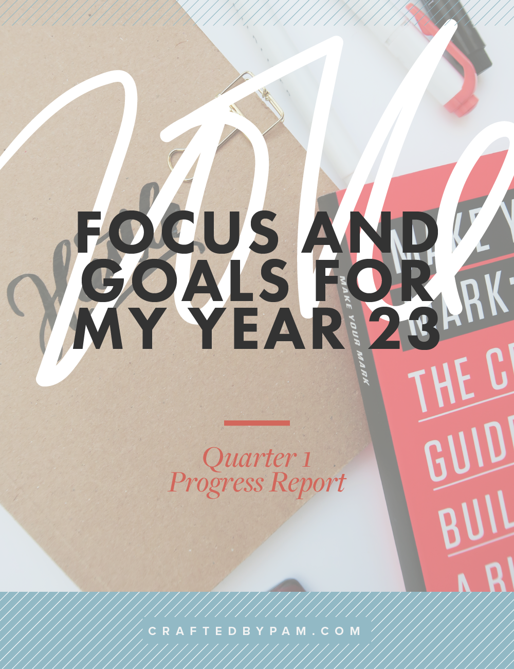 Year 23: Q1 Progress Report on Pam's 2016 Focus and Goals | Crafted by Pam