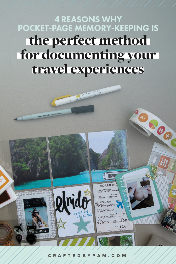 Four Reasons Why Pocket-Page Memory-keeping is PERFECT for Documenting Your Travel Experiences | Crafted by Pam