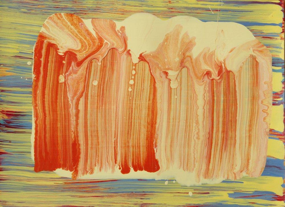 Orange Gesture 3  2016, 25 x 34cm acrylic on paper