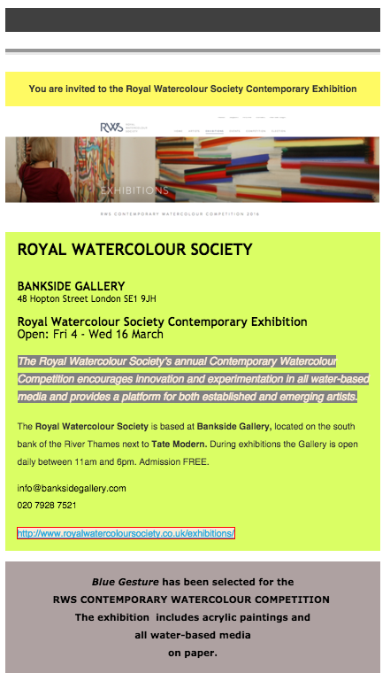 RWS Contemporary exhibition