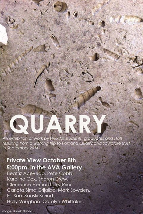 'Quarry' Portland Exhibition at University of East London