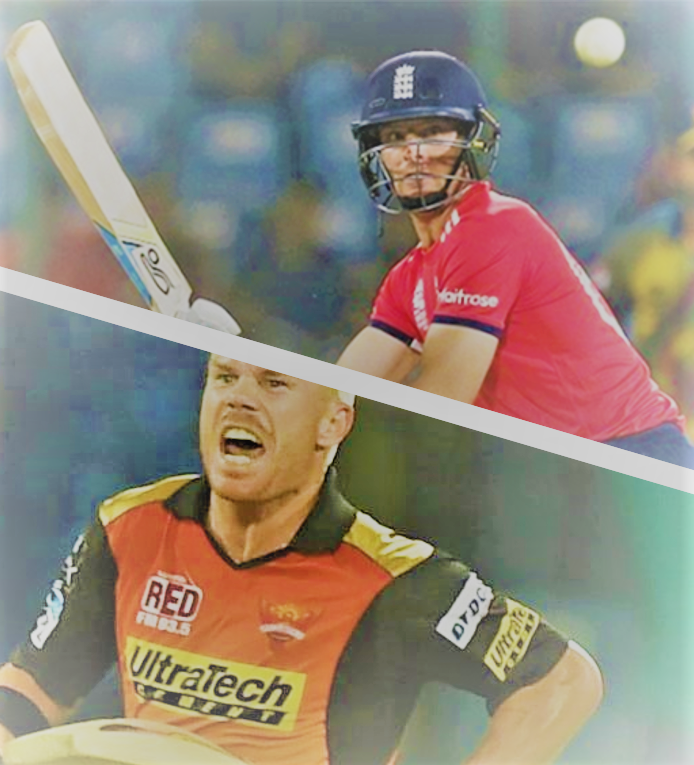 David Warner as an example of an opening batsman (glamour) and Jos Buttler as an example of a middle order batsman (versatility)