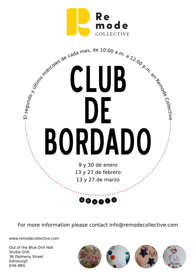 Club de Bordado  - Embroidery workshop for free - Everybody is Welcome