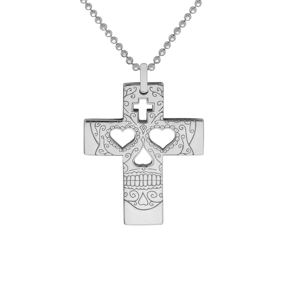 SUGAR SKULL CROSS PENDANT<br>from £50.00