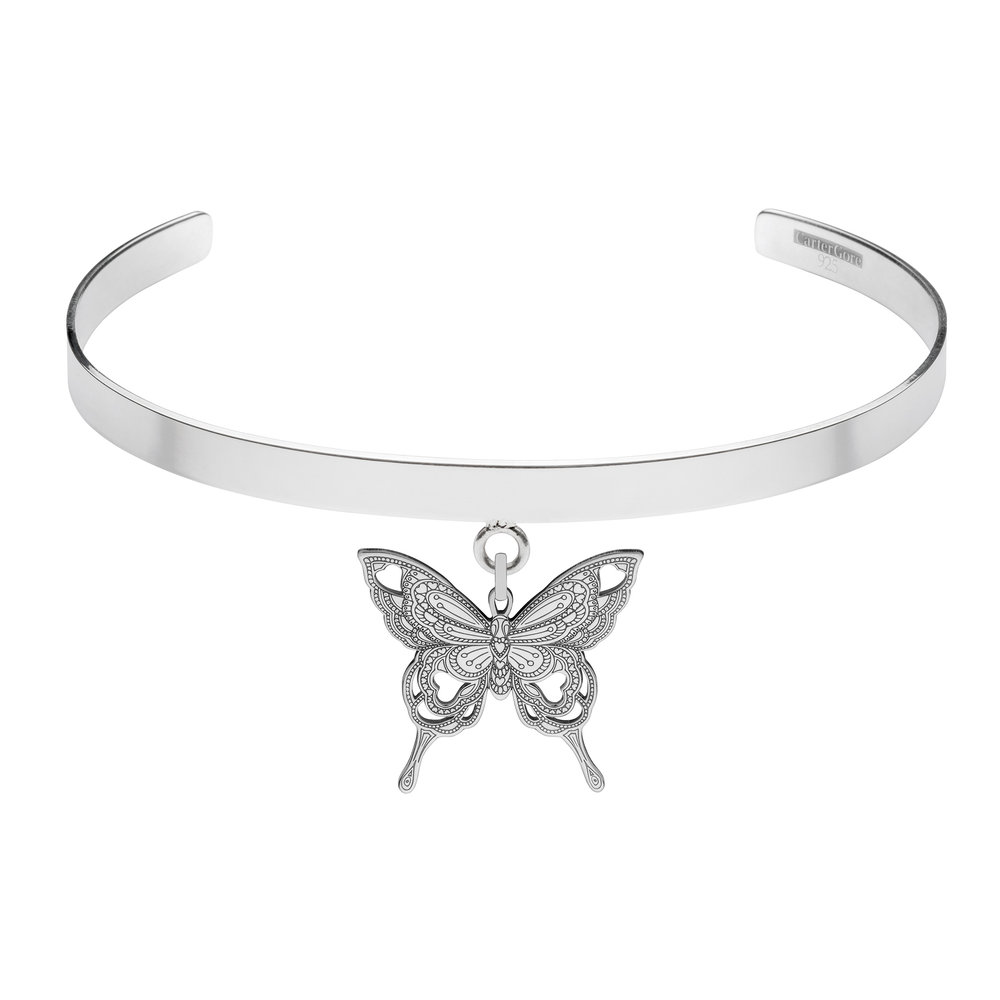 BUTTERFLY<br>SINGLE CHARM CHOKER<br>£165.00