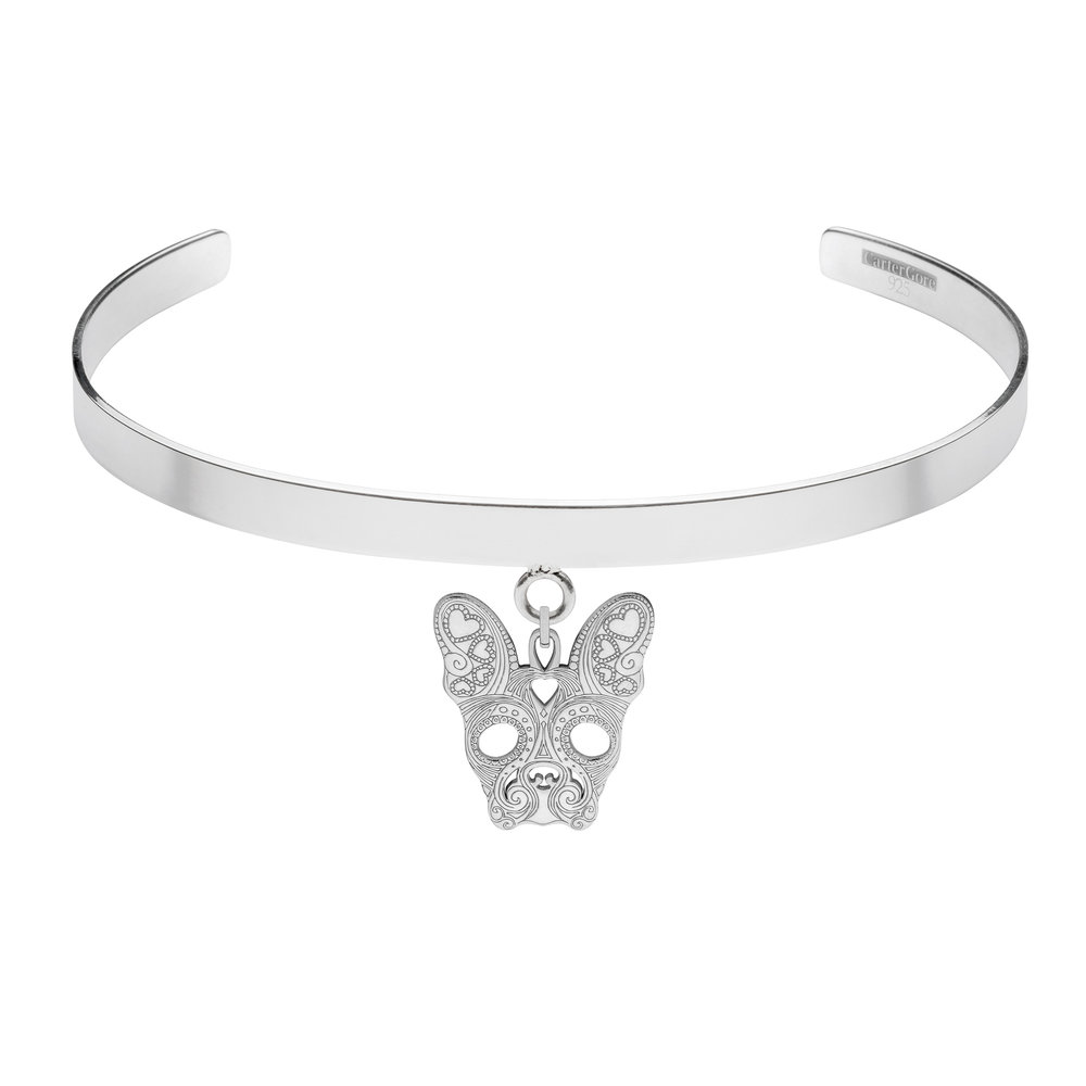FRENCH BULLDOG<br>SINGLE CHARM CHOKER<br>£165.00