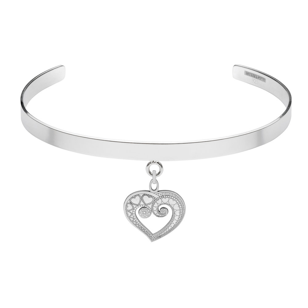 HEART OF HEARTS<br>SINGLE CHARM CHOKER<br>£165.00