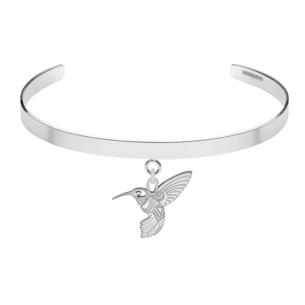 HUMMING BIRD<br>SINGLE CHARM CHOKER<br>£165.00