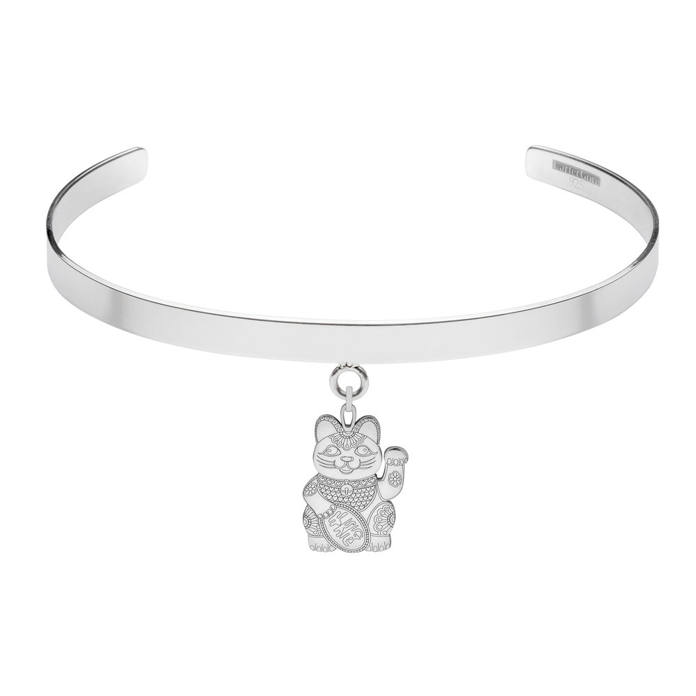 LUCKY CAT<br>SINGLE CHARM CHOKER<br>£165.00