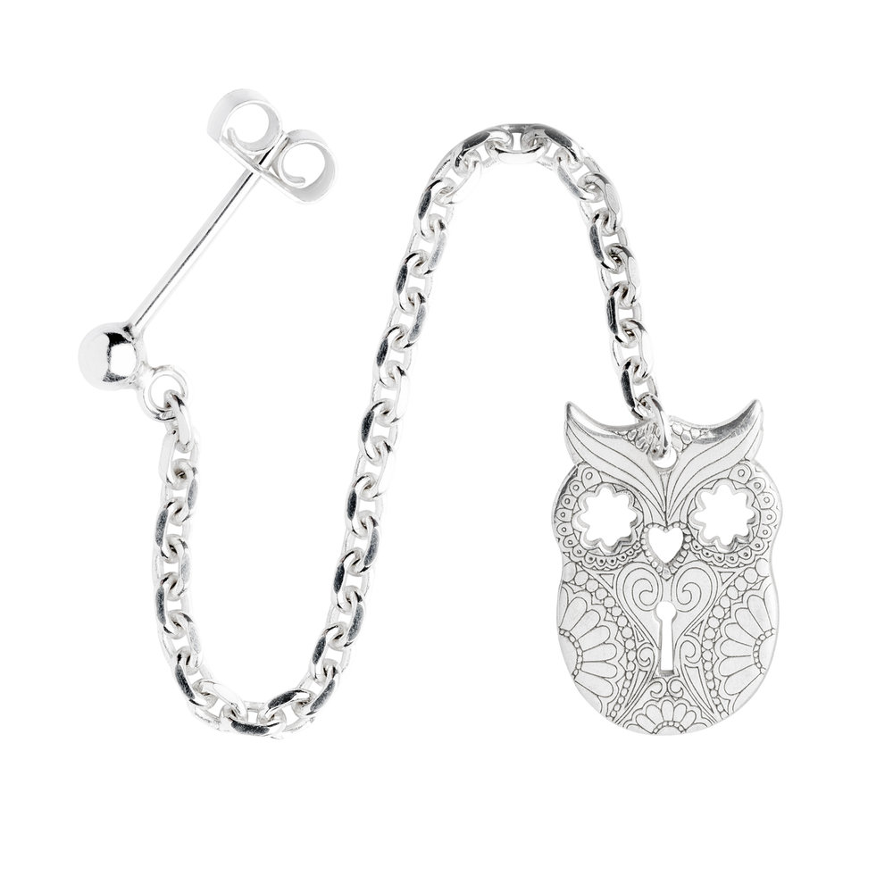 OWL<br><b>SINGLE EARRING</b><br>£30.00