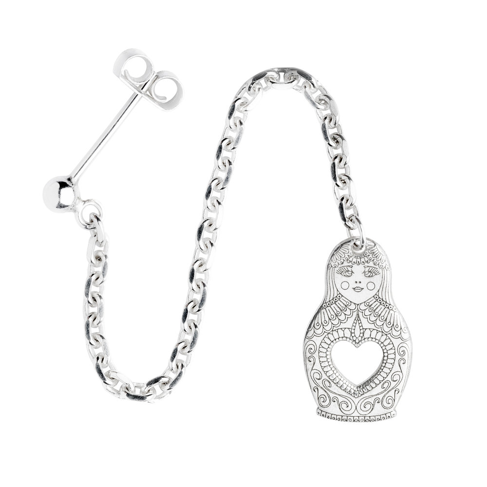 RUSSIAN DOLL<br><b>SINGLE EARRING</b><br>£30.00
