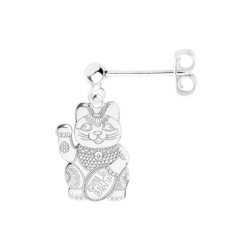 LUCKY CAT<br><b>SINGLE EARRING</b><br>£25.00