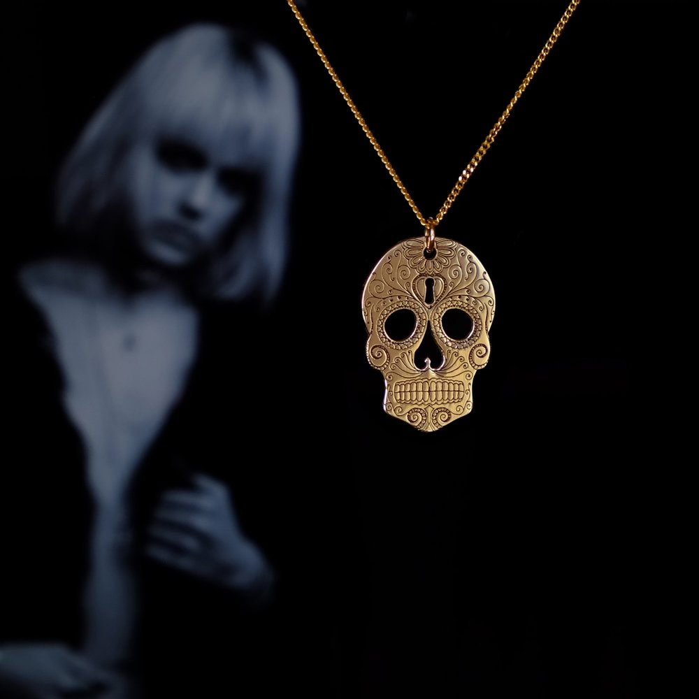 'Day of the Dead'Win this Solid Gold Sugar Skull - Check out our Facebook and Instagram pages for your chance to win this fabulous, unique Sugar Skull 9ct gold pendant. Competition entries will close on 1st November. The winner will be announced on 2nd November.