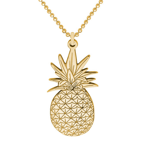 flat sterling pineapple pendant necklace silver cutout