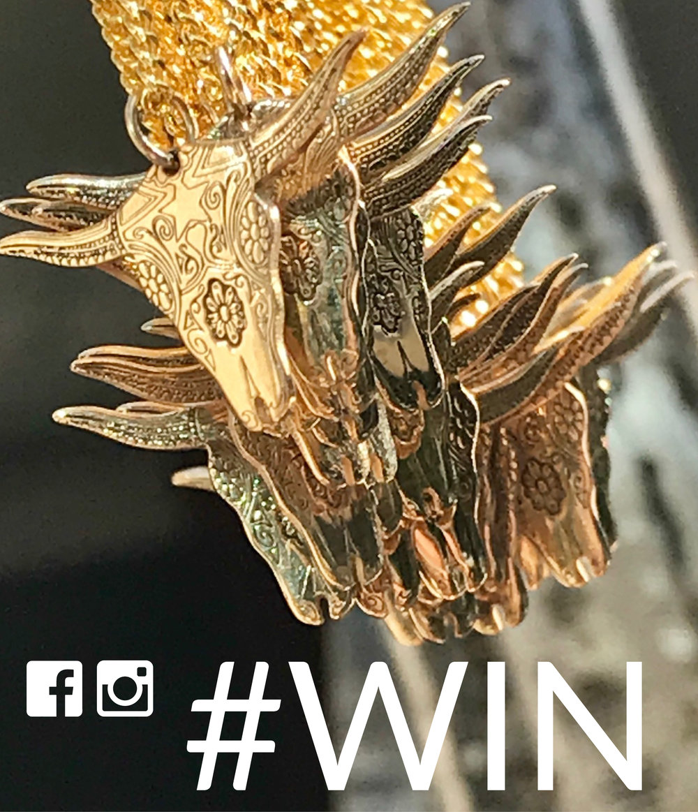"#WIN A cARTERGORETEXAS LONGHORN PENDANTWE HAVE 30 TO GIVEAWAY!  - This is not a drill. Yes it's true, we are giving you the opportunity to win a mega mini gold plated sterling silver Texas Longhorn. We have 30 to give away, yes THIRTY! Now that rocks. What are you waiting for?Go on… You can enter on both Facebook and Instagram to double your chances. On Instagram, simply follow @cartergoreeng and tag a friend so they don't miss out on this killer comp! For Facebook entries, make sure you've ""liked"" CarterGore's Facebook page and comment why you'd love to win this badass piece. Good luck everyone... View terms & conditions"