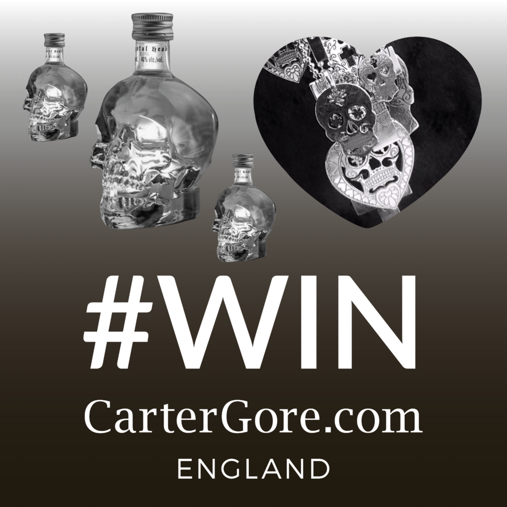 "Jewellery + Vodka = Pure Happiness, right?! - Here's your chance to Win a mega CarterGore Small Sterling Silver Pendant of your choice... plus three Crystal Head Skull Vodka 5cl Miniatures – now that rocks! On Instagram... simply 1. 'Follow' @cartergoreeng @cartergoreeng 2. ""Like"" the post 3. Comment why you'd like to win in the box below the post. On Facebook entrants will be required to 1. ""Like"" CarterGore Facebook page 2. Comment why you'd like to win in the box below the post... View terms & conditions"
