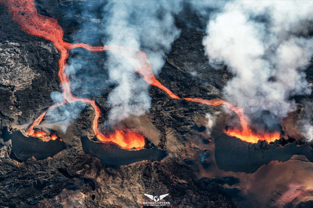 """""""Les 3 volcans"""" by    DroneCopters"""