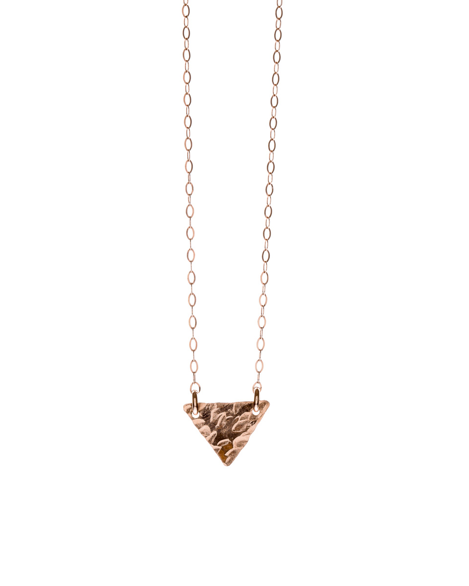 Rose Gold Triangle Necklace - $48