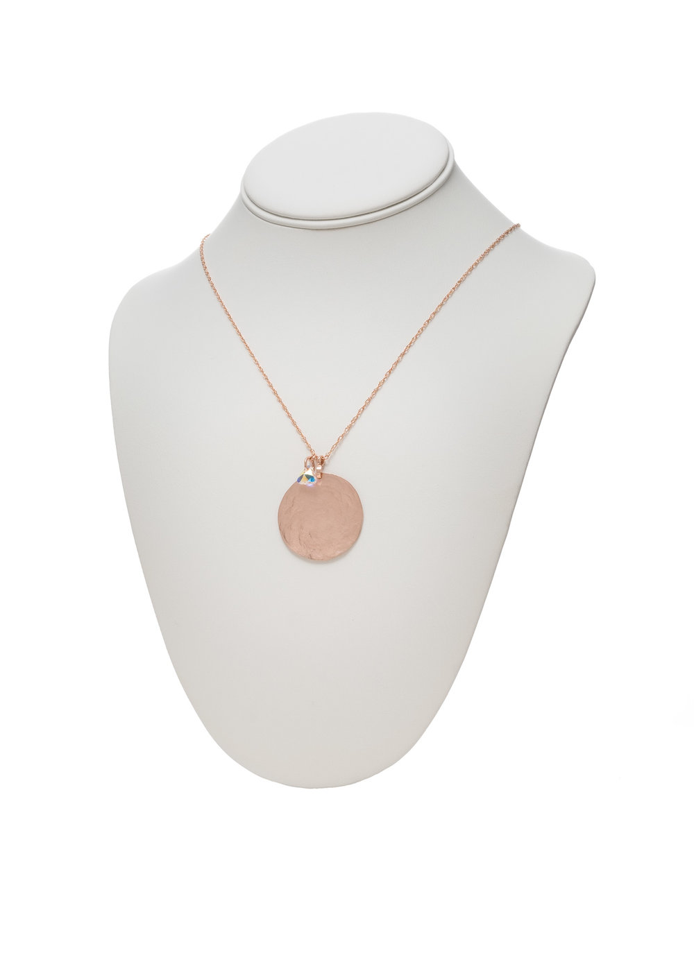 Rose Gold Medallion Necklace - $150