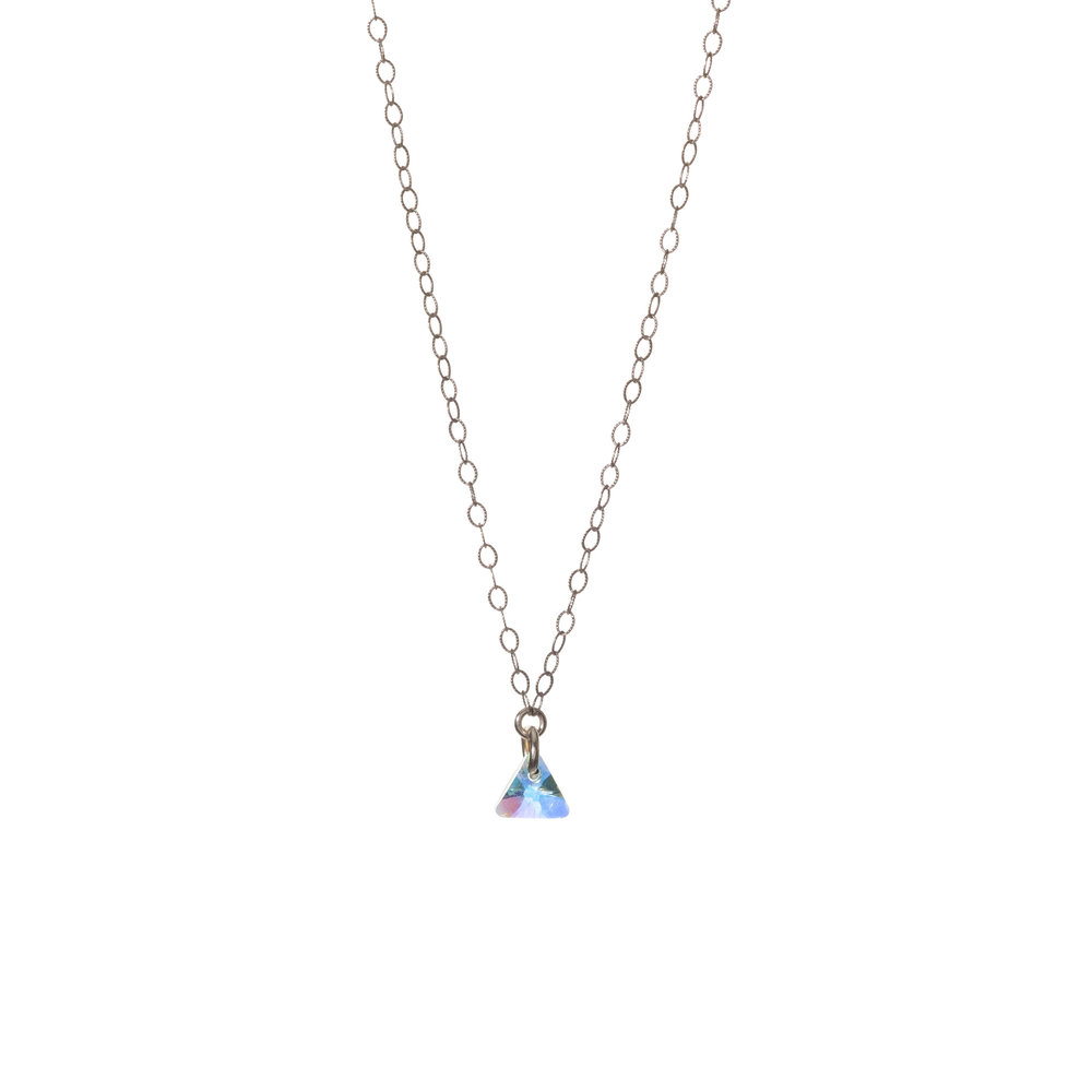 Rose Gold Tiny Dancer Swarovski Crystal Necklace - $55 Available in Sterling Silver, Rose Gold-Filled or Gold-Filled metal with a Swarovski Crystal, the Tiny Dancer is the ideal piece to dance the night away in.