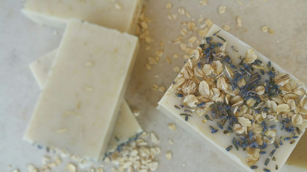 oatmeal and lavender soap