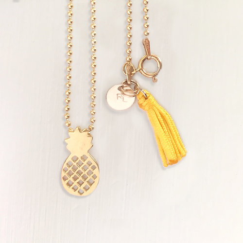 in pineapple adjustable p an on chain gold product warm productrose rg pendant rose