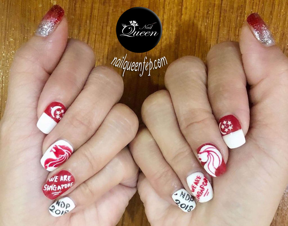 Nail Queen in celebrating singapore's national day 2018! are you reeeeadddyyy?!  august promotion : express gel manicure at only sG$25! u.p SG$30