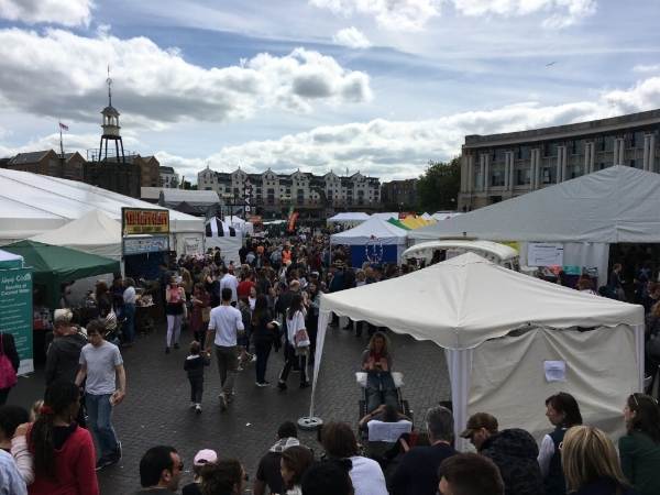 Bristol Veg Fest 2017 held in Lloyds Amphitheatre by the harbourside