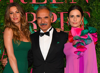 Gisele Bunchen, Carlo Capasa and Livia Firth