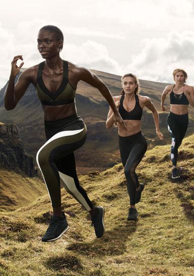 H+M's new conscious gym wear collection.