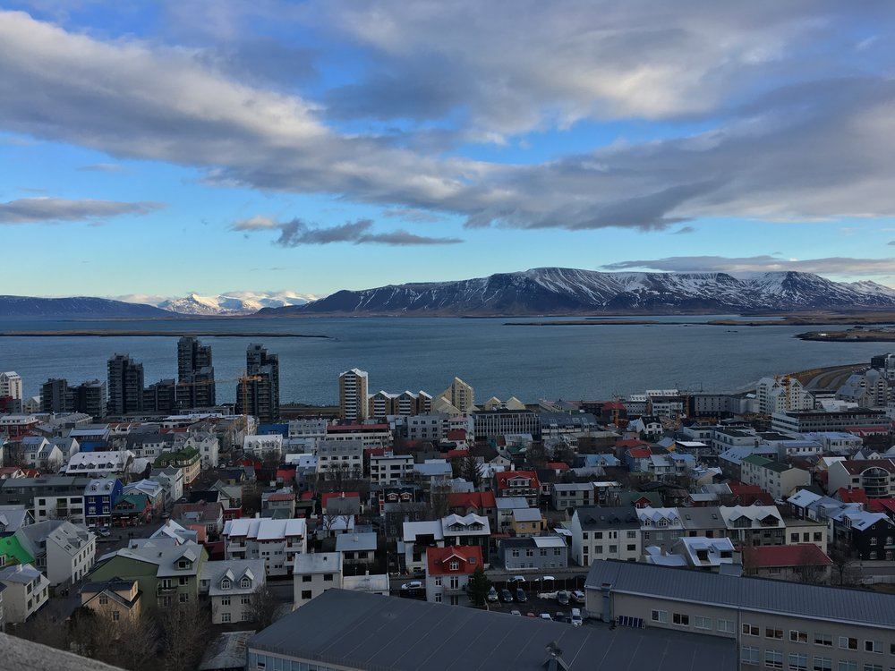Views from the top of the Hallgrimskirkja (church)