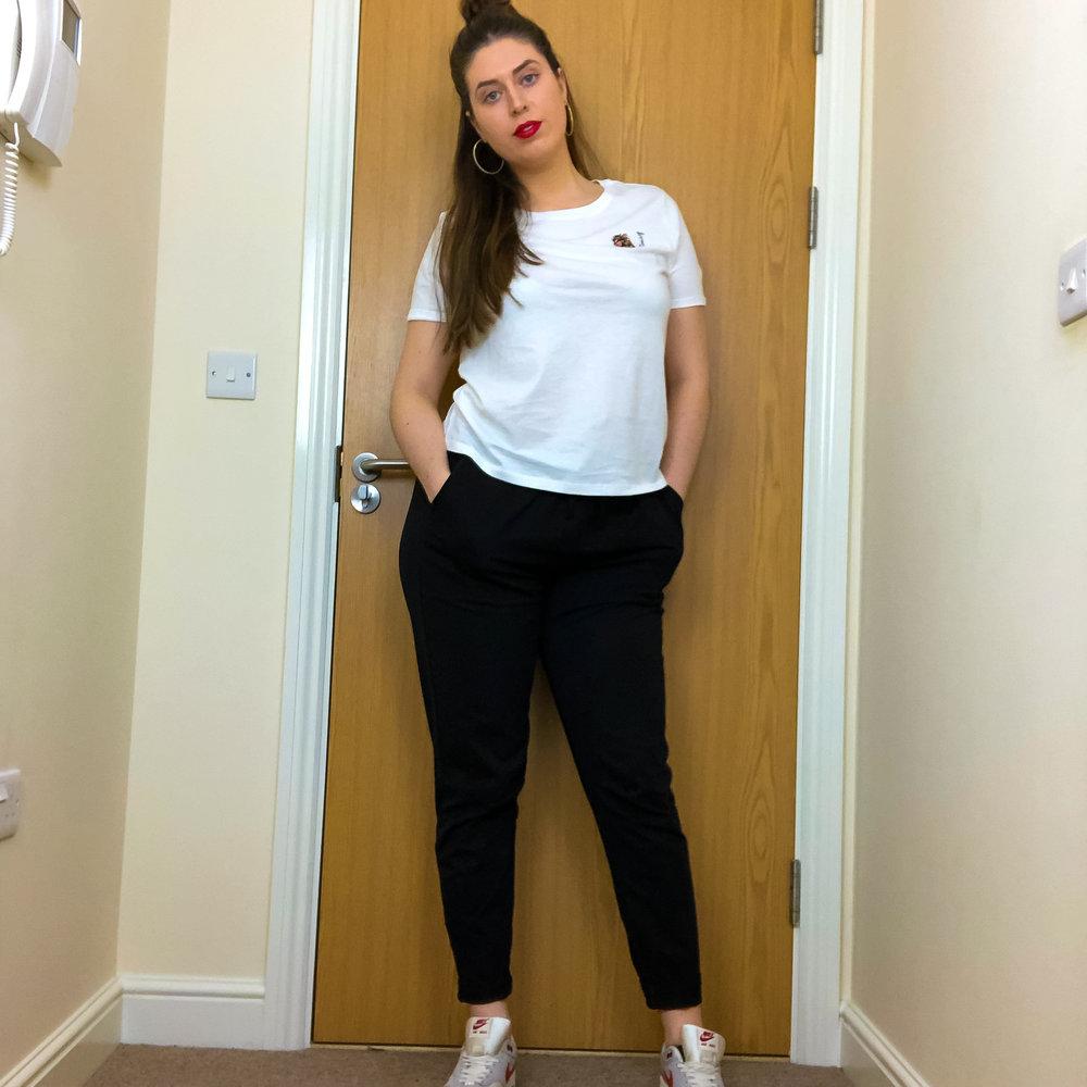 Sasha trousers styled - weekend casual ;)
