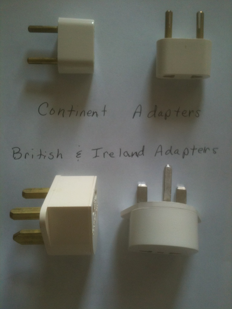 Dream Destinations photo of European adapters and electrical plugs - Dream Destinations travel tips help travelers prepare.
