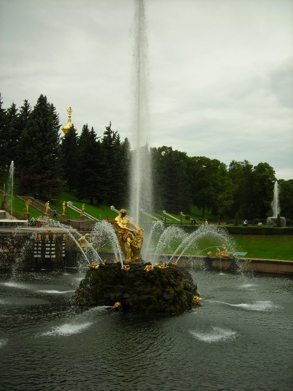 Sampson Fountain, St. Petersburg, Russia