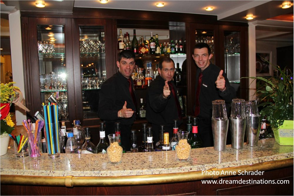The Bar Staff—Miro, Peter and Tomas—what a crew !