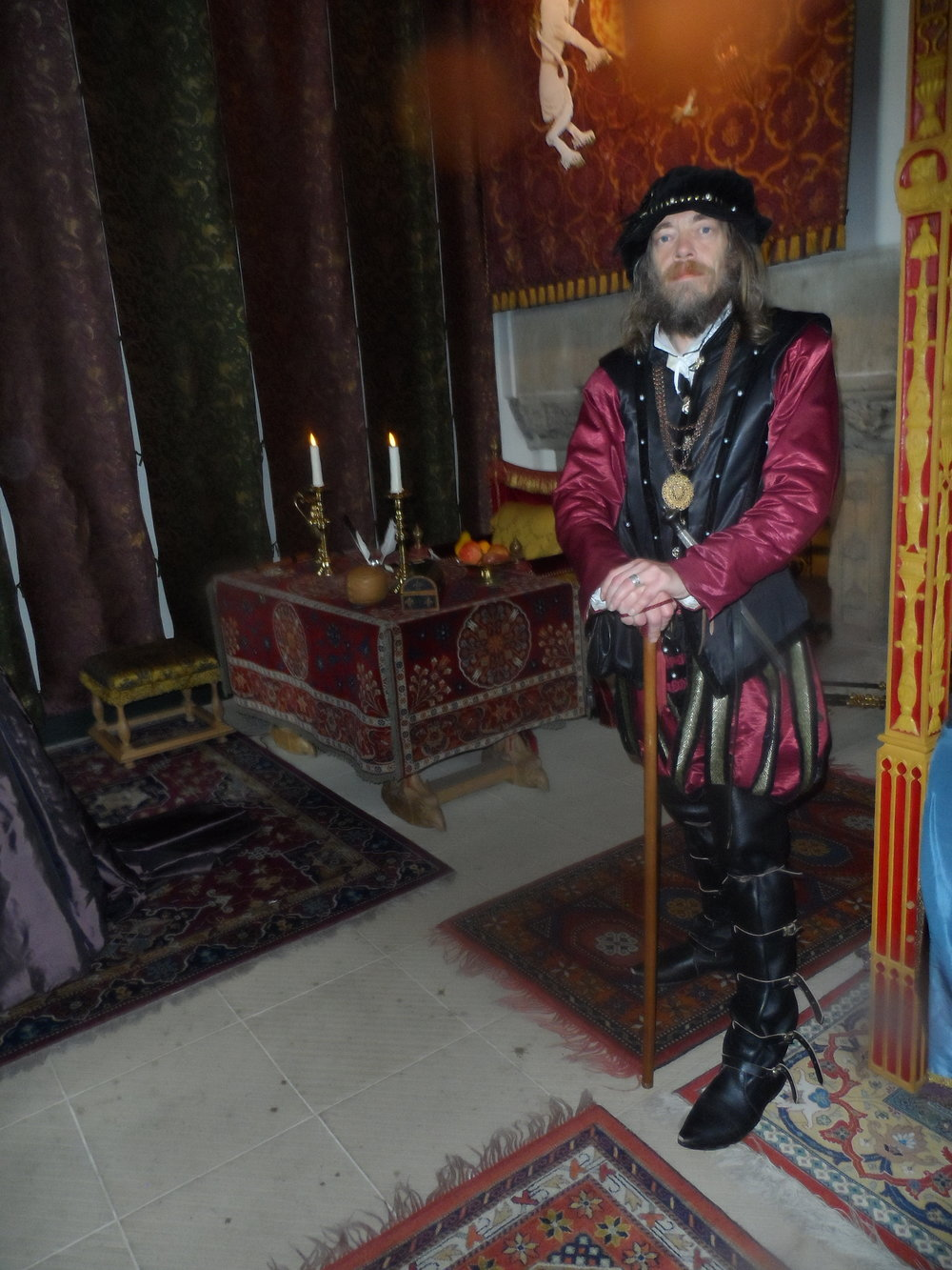One of several period actors in Stirling Castle