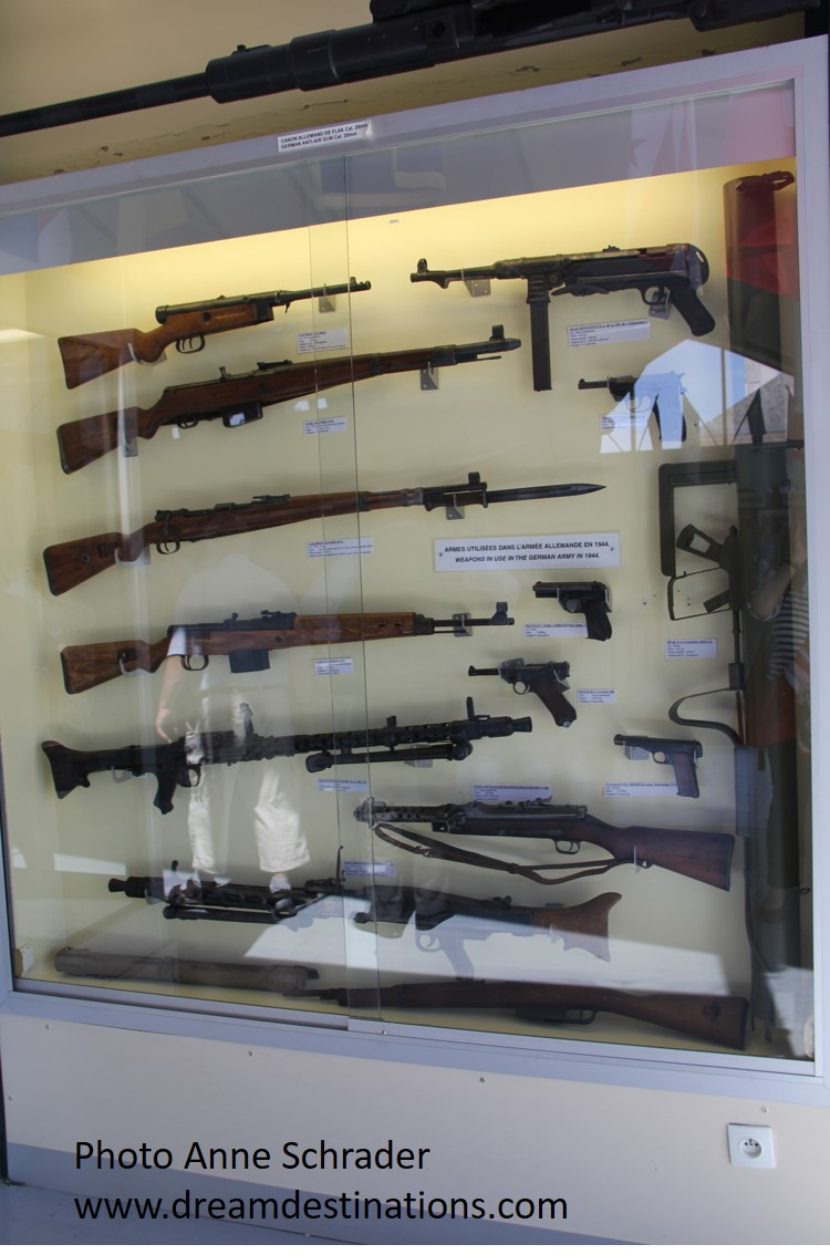Weapon's Display in the C-47 Building on display in the Airborne Museum in Ste Mere Eglise